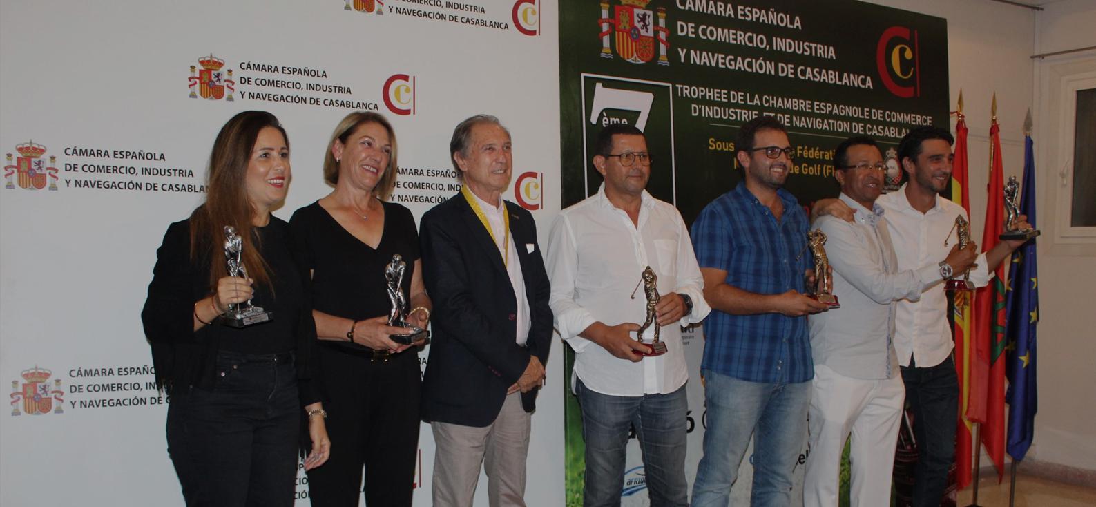 7ème édition du trophée de golf , cérémonie remise des prix